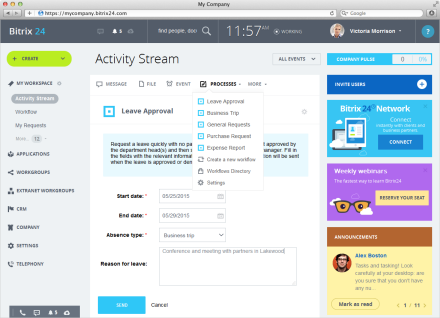 Activity Stream Bitrix24